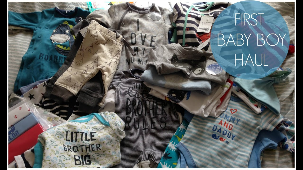 First Baby Boy Clothes Haul! - YouTube