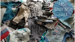 First Baby Boy Clothes Haul!