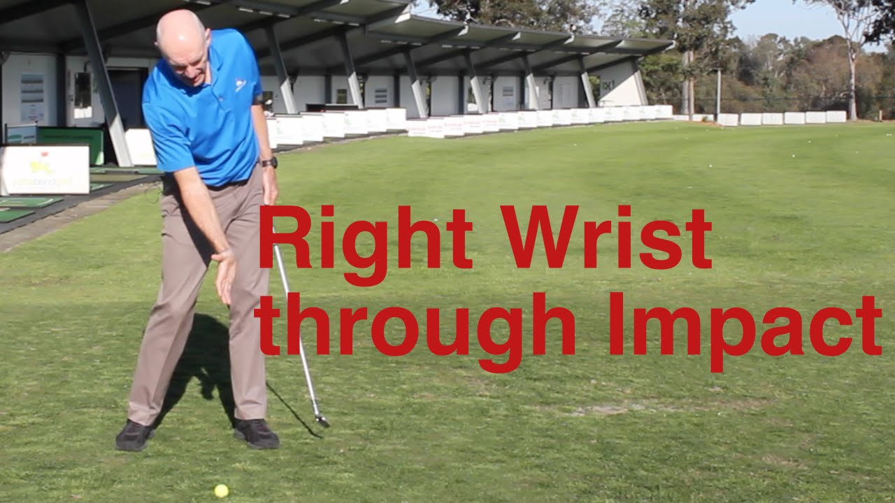 Right wrist through impact