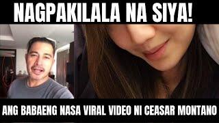 SIYA PALA ANG BABAE SA VIRAL VIDEO NI CESAR MONTANO NOONG 2018