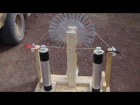 Home made Wimshurst machine, full build 18