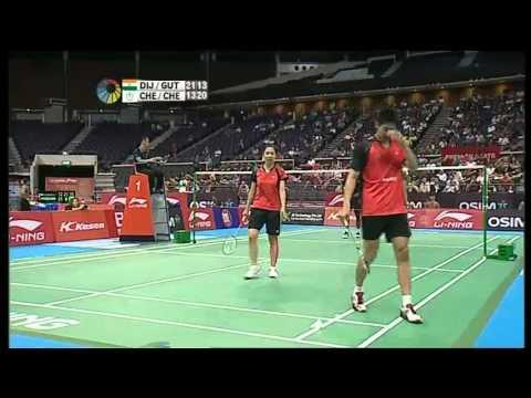 QF - XD - Chen H.L./Cheng W.H. vs J.Gutta/V.Diju - 2012 Li-Ning Singapore Open