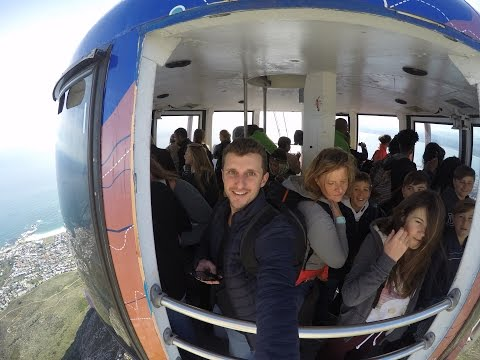 Table Mountain Cable Car in Cape Town - South Africa - HD