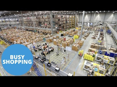 Sneak peak inside the Amazon Warehouse in the run up to Christmas/Black Friday