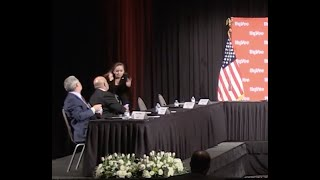 Unmasked in Iowa Participants in a roundtable with Vice President Mike Pence were asked to remove their masks before he arrived at the event in Iowa on Friday, May 8, 2020., From YouTubeVideos