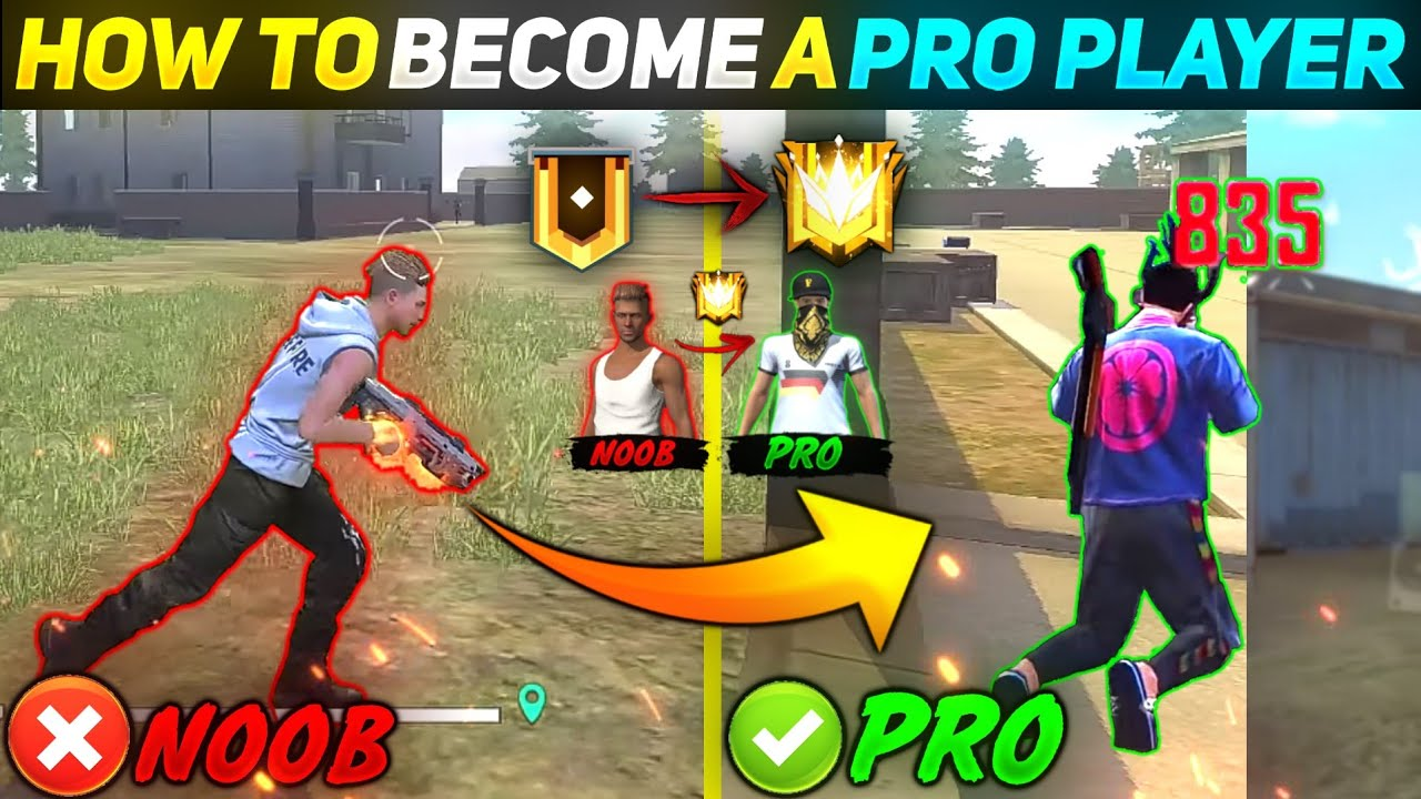 How To Become Noob To Pro Player In Free Fire | Pro Tips & Tricks | Ultra Pro |-Garena Free Fire