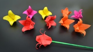 Origami: Flower / Tulip - Instructions in English (BR)