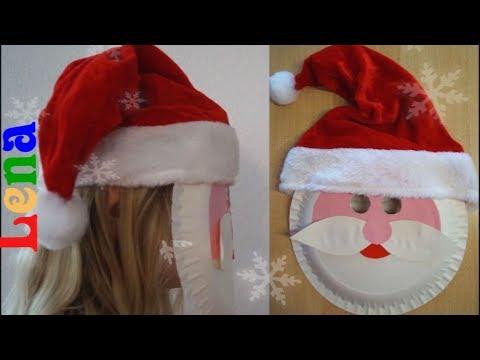 Weihnachtsmann Maske Basteln Mit Lena