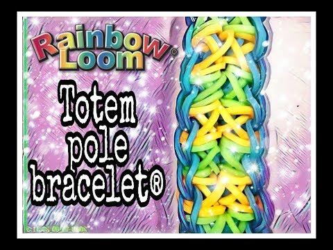 How To Make Rainbow Loom Charms Totem Pole Bracelet Tutorial TOTY 2019