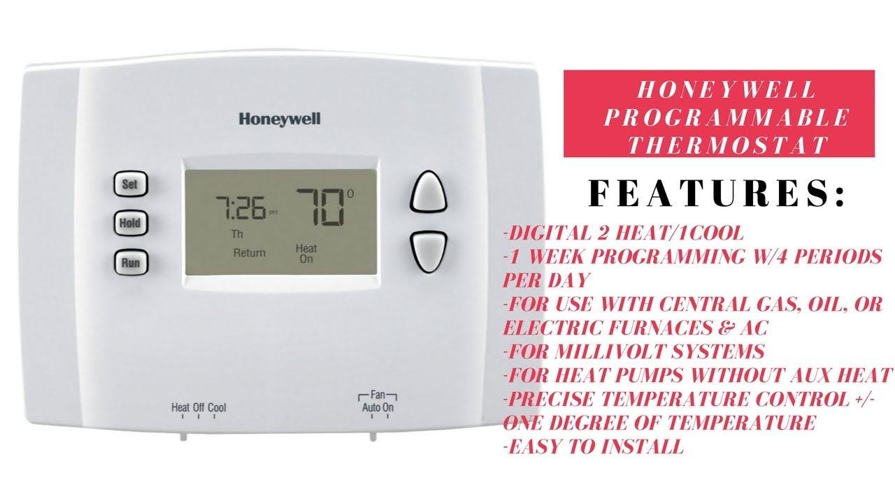 unboxing of the honeywell programmable thermostat rth2410b youtube rh youtube com honeywell thermostat rth2410b wiring guide honeywell thermostat rth2410b wiring guide