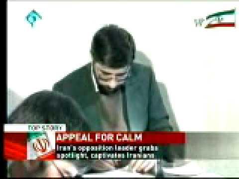 Portrait Mousavi Iran Opposition Leader