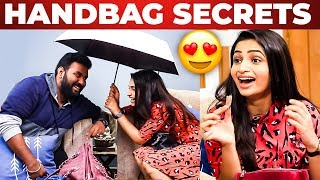 Actress Nakshatra Nagesh Handbag Secrets Revealed by Vj Ashiq | What's Inside the Handbag?