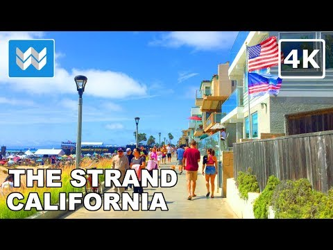 Walking Tour Of THE STRAND – Hermosa Beach To Manhattan Beach In South Bay, California 🎧 【4K】
