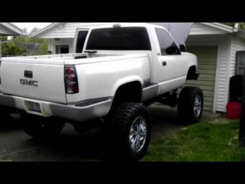 Lifted Gmc Sierra >> Lifted SAS GMC 1500 Stepside on Air Ride - YouTube