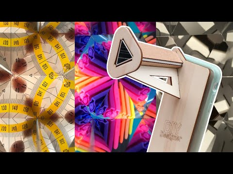 DIY fun smartphone lens with kaleidoscope effect