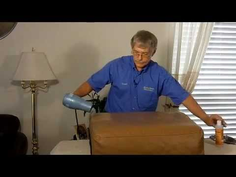 Repair Leather Sofa Cushion California Manufacturers And Treatment Of A Couch Youtube