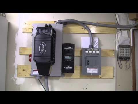 Small offgrid solar power system