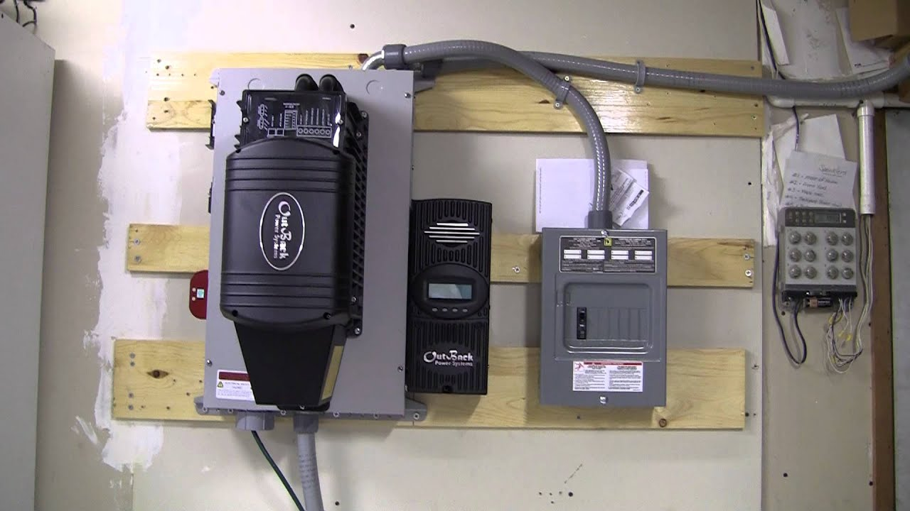 12 Volt Solar Panel Wiring Small Offgrid Solar Power System Youtube