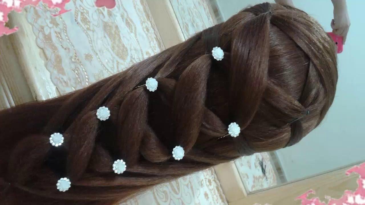 peinados recogidos faciles para cabello largo bonitos y rapidos con trenzas para niña para fiestas10 2017