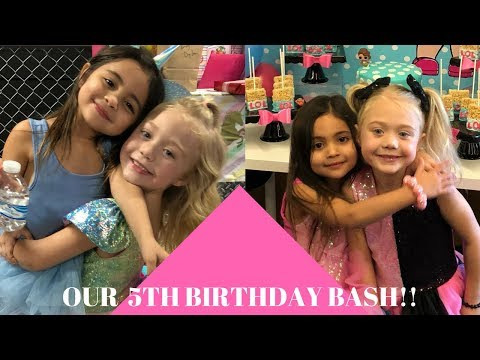 EVERLEIGH'S AND AVA'S SURPRISE 5TH BIRTHDAY BASH! (CRAZY)