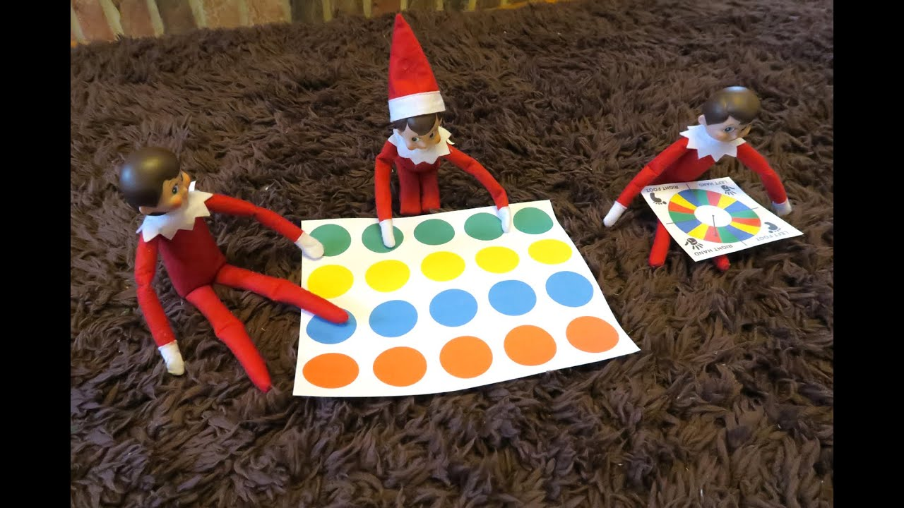 My elves on the shelf play twister - YouTube