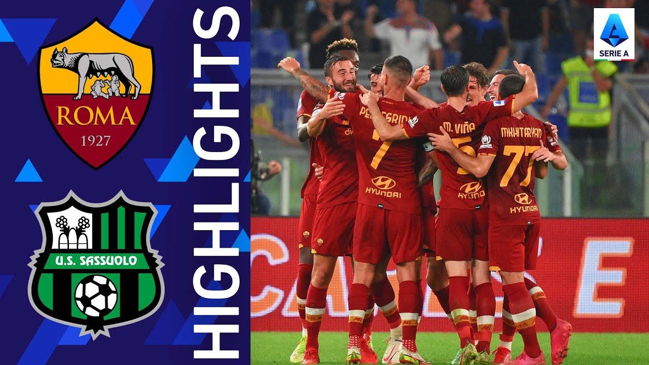 PlayTube Sports: Roma 2-1 Sassuolo [Super match at the Olimpico Stadium] - Serie A 2021/22