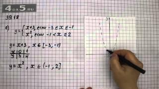 Упражнение 39.18. Вариант А. Алгебра 7 класс Мордкович А.Г.