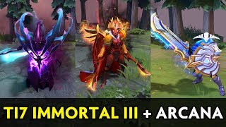 TI7 Immortals III + Arcana and old Immortals preview