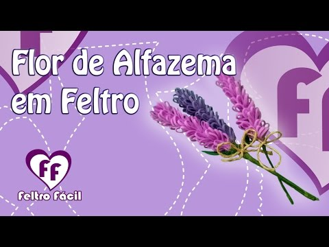 Flor de Lavanda em Feltro!