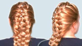 Вечерняя Прическа на Средние Волосы Своими Руками| Видео 2014| Evening Hairstyle for Medium Hair