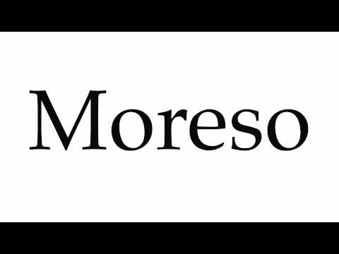 How to Pronounce Moreso