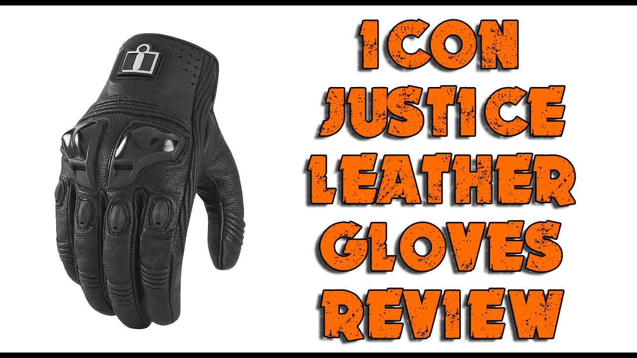 Icon justice leather motorcycle gloves - Icon Justice Gloves Review