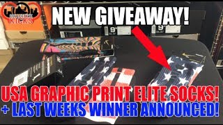 New Giveaway! USA Stars & Stripes Elite Nike Graphic Print Socks! + Last Week Winner Announced