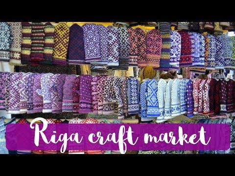 KNITTING VLOG - Riga craft market