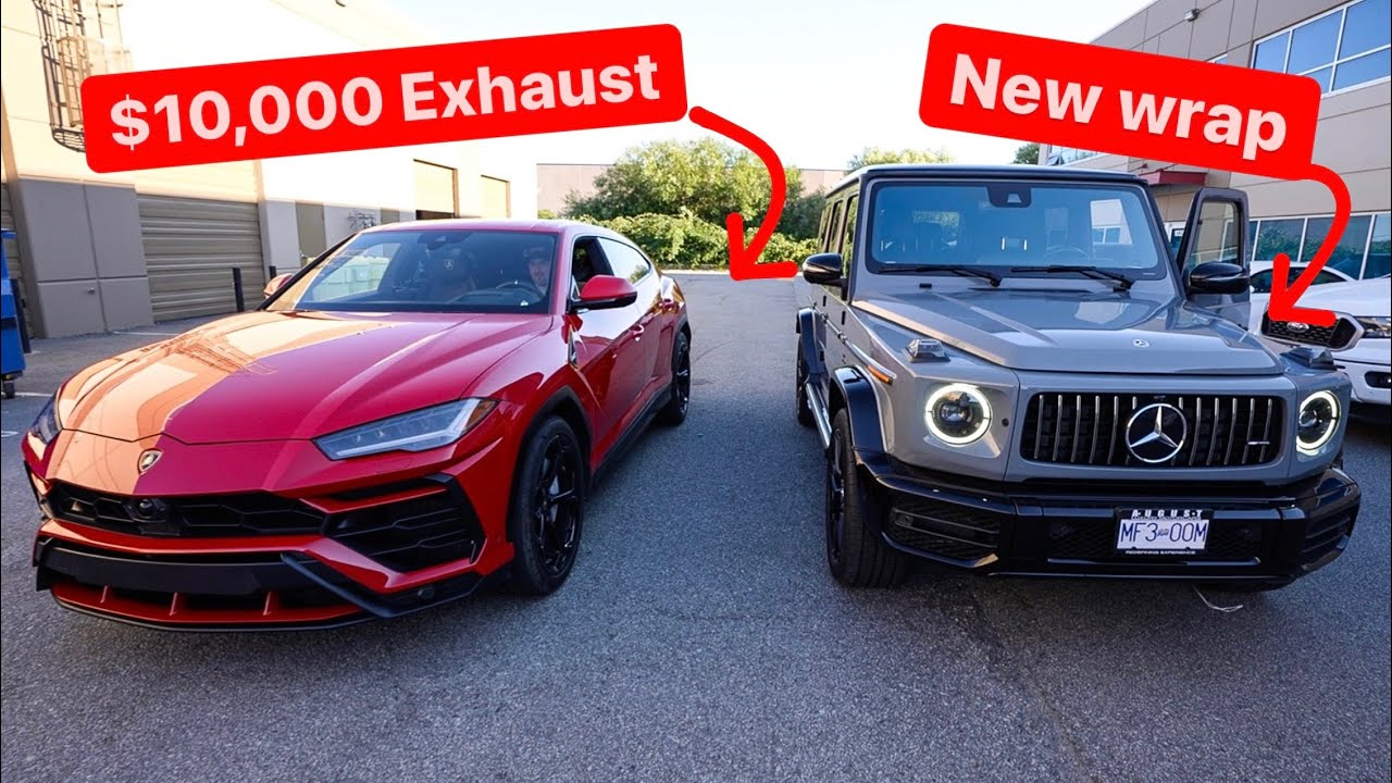 WE STRAIGHT PIPED THE LAMBORGHINI URUS WITH $10,0000 EXHAUST! *New G63 Wrap Reveal*