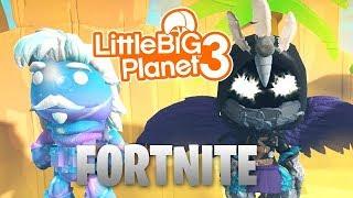LittleBIGPlanet 3 - FORTNITE COSTUMES [EVAN1207066] - Playstation 4 Gameplay, Walkthrough