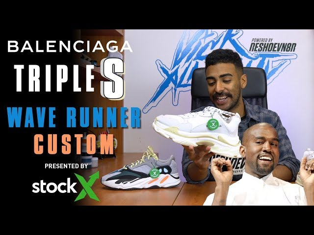ee05fe5e7 Balenciaga Triple S Yeezy Wave Runner inspired custom by Vick Almighty