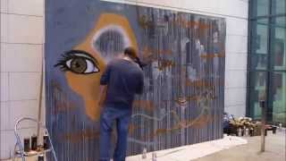 Time lapse of an art piece done at the Market Place Theatre by Graffiti Artist Gary Rowe