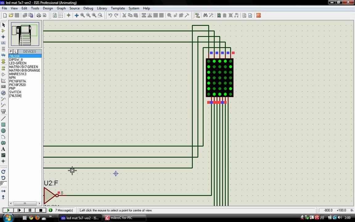 A dot matrix LED display project for an 8x8 or 5x7 led matrix