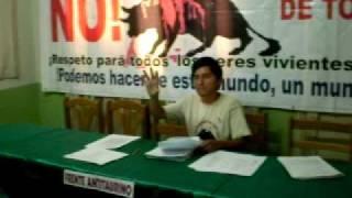 FRENTE ANTI-TAURINO DEL PERÚ, CONFERENCIA DE PRENSA 2009 - 1