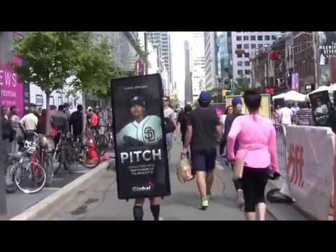 "Walking Billboards & Digital Ad Truck  - Corus, new Global TV"" PITCH"" TV Series  Launch Campaign"