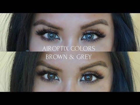 Air Optix Colors in Brown & Grey