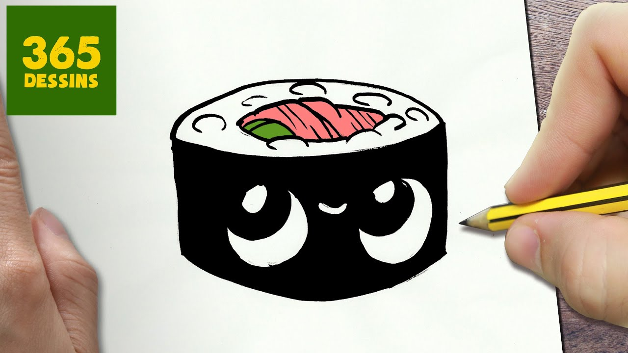 Comment Dessiner Sushi Kawaii 201 Tape Par 201 Tape Dessins