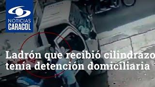 Ladrón que recibió cilindrazo en la cabeza tenía detención domiciliaria