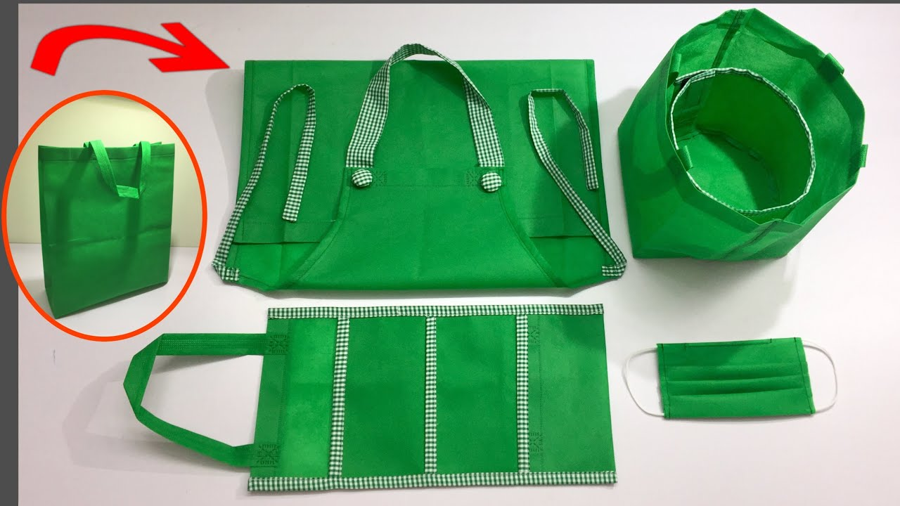 ⭐️ TOP 5 good ideas from OLD NON WOWEN Bag /Recycle old non-woven bags/Don't throw away the old bag/