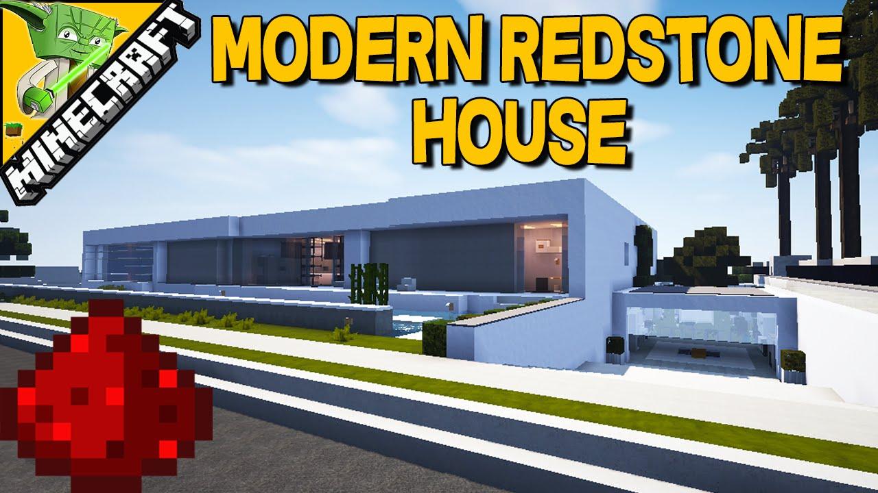EPIC REDSTONE MINECRAFT MODERN HOUSE redstone piston house w