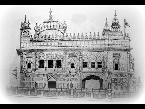 Making of the Sketch - Gurudwara Darbar Sahib, Amritsar