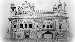 Making of the Sketch - Gurudwara Darbar Sahib, Amritsar