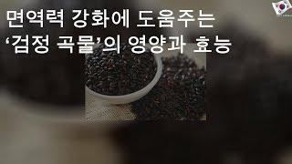 면역력 강화에 도움주는 '검정 곡물'의 영양과 효능