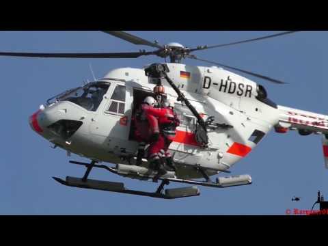 [HD] Winchtraining mit Offshore Rettungshubschrauber Air Ambulance 02 DHDSR